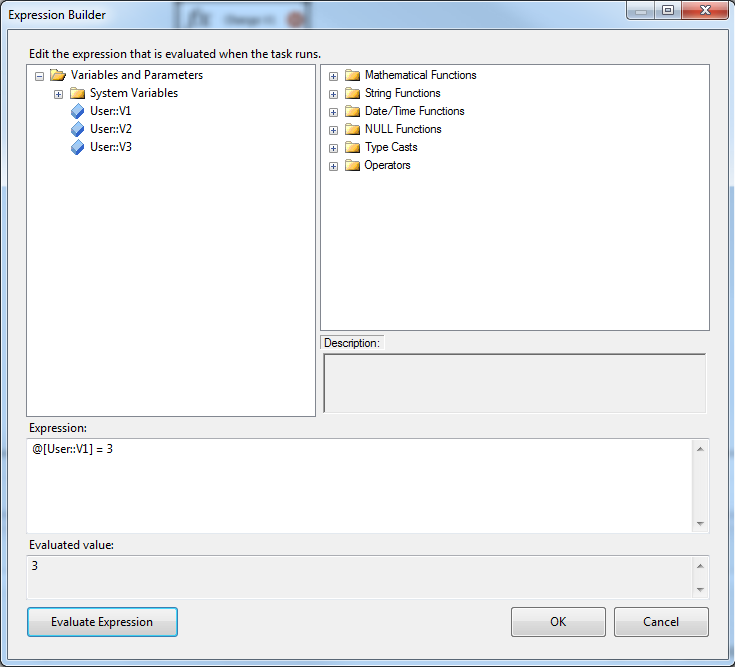 SSIS Expression Task