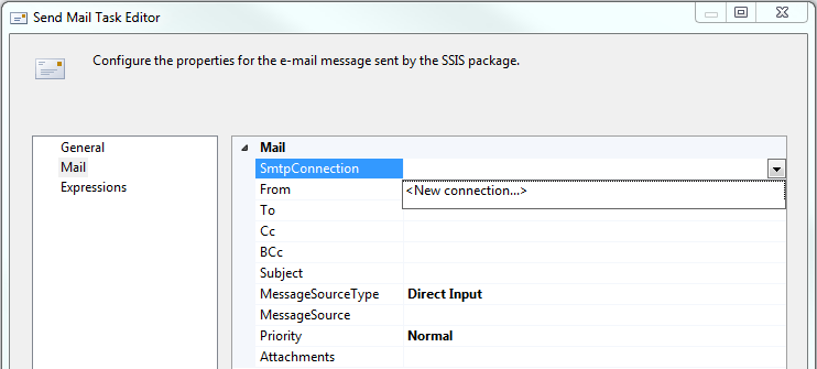 SSIS Send Mail Task